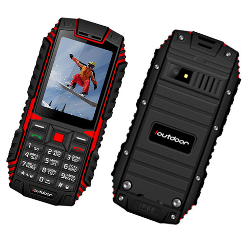 XGODY ioutdoor T1 2G Feature Phone IP68 Shockproof cep telefonu 2.4''128M+32M GSM 2MP Back Camera FM Telefon Celular 2G 2100mAh