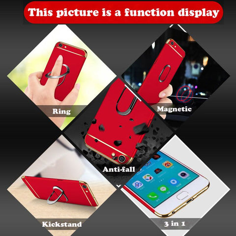 a3s Case For OPPO A3s Cover 3in1 Full Body Protection Shell hard Luxury Back Cover For OPPO A3S Phone Cases Bag Coque Ultra thin