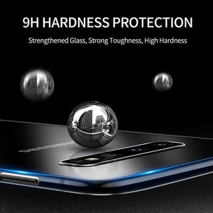 iHaitun Luxury Glass Case For Samsung S10 Plus S10e Cases Ultra Thin Transparent Back Cover For Samsung Galaxy S10 + Soft Edge
