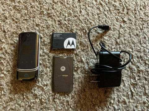 Image of Motorola KRZR K1m Gray Refurbished Verizon Cellular Phone Battery & Charger