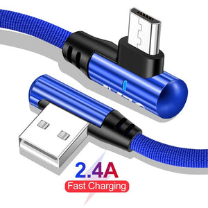 OLAF 2.4A Fast Charge 90 Degree Elbow Micro USB Cable for Samsung S7 For Xiaomi LG Tablet Android Mobile Phone USB Charging Cord