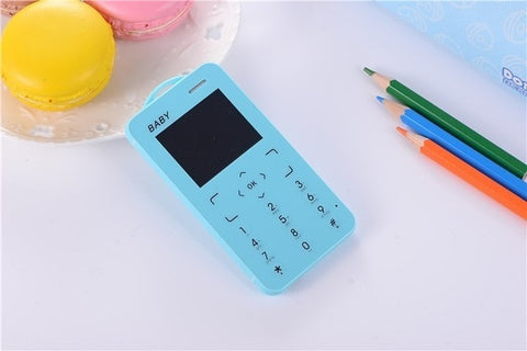"T5 Mini Mobile Phone 1.8"" Ultra Thin Card Pocket Student MP3 Low Radiation Push Button Support TF Card Small Slim Size Cellphone"
