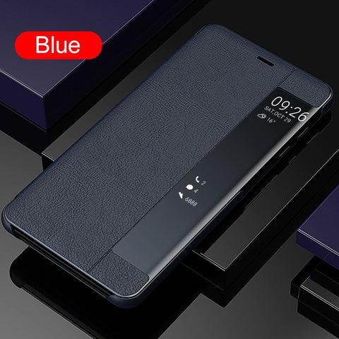 Image of KISSCASE Case For Samsung Galaxy S7 Edge S8 S9 S10 Luxury Leather Smart View Window Flip Phone Case for Samsung Note 8 9 Fundas