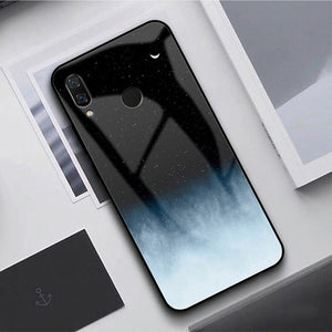 GFAITH Tempered Glass Case For Samsung Galaxy A50 Feather Print Cover For Samsung Galaxy A30 A20 A10 A40 S9 A70 Phone Cases S10