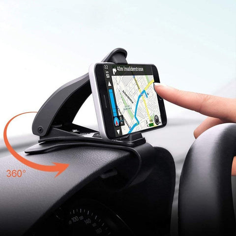 Image of Car Phone Holder 360 Degree GPS Navigation Dashboard Phone Holder in Car for Universal Mobile Phone Clip Mount Stand Bracket