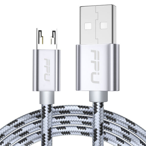 Image of FPU Micro USB Cable Microusb 2.4A Fast Charging Cables For Samsung Xiaomi Huawei Android Mobile Phone Data Charger Wire Cord 2m