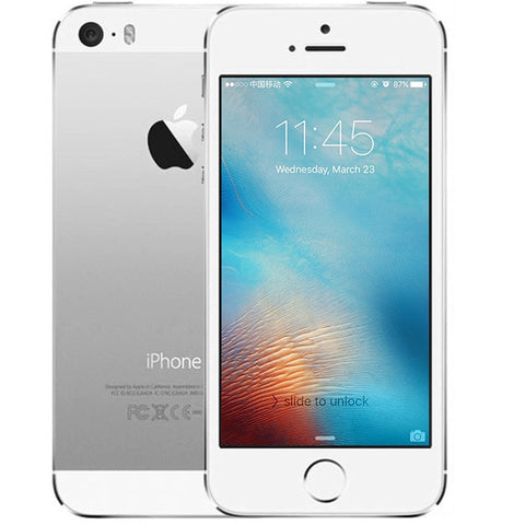 Original Unlocked Apple iphone 5s 4G LTE 4.0'' 16GB/32GB/64GB ROM WiFi GPS GPRS 8MP IOS Touch ID Fingerprint Mobile Phone
