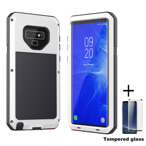 Image of Tempered glass+Full Protective Luxury Doom Armor Metal Case Shockproof Cover For Samsung S7 S8 S10 S10Plus S9 S9Plus Note8 Note9