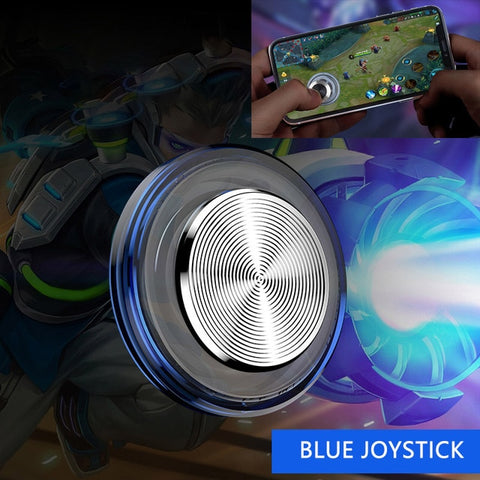 Round Game Joystick For Mobile Phone Rocker Tablet Android Iphone Metal Button Controller Easy Chicken Dinner With Suction Cup