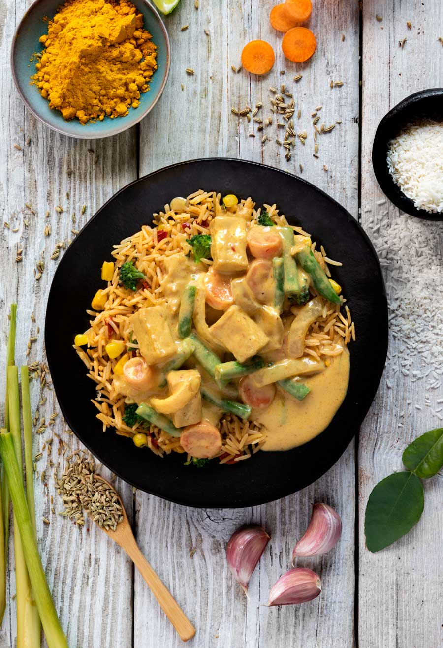 Yellow Tofu Curry