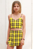 Skorts - Yellow Plaid