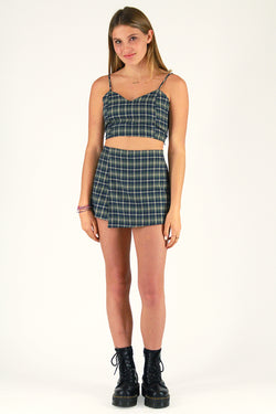 Skorts - Flannel Green Plaid