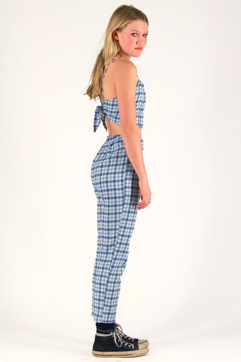 Cami Top and Pants - Flanel Blue Plaid