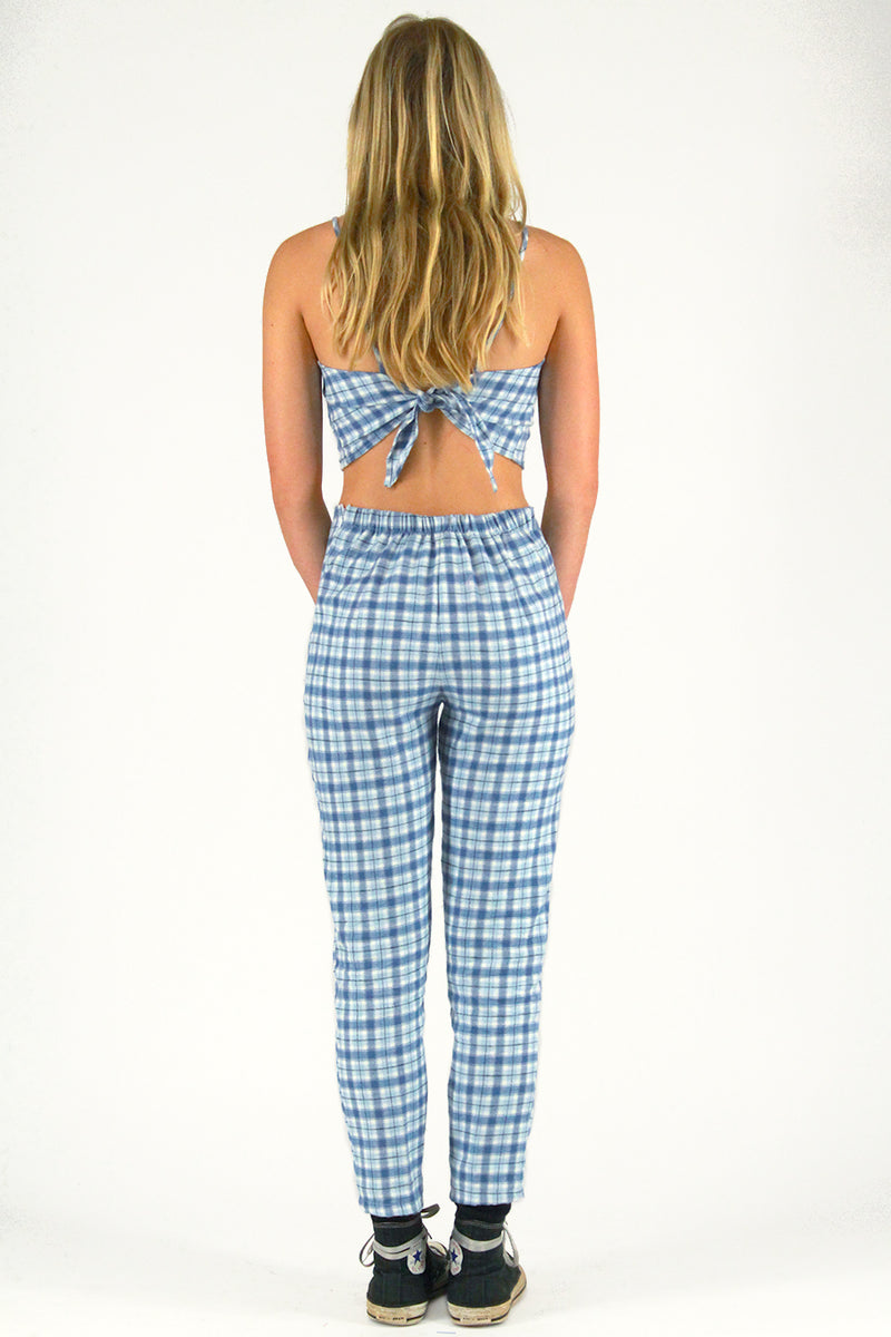 Pants - Flanel Blue Plaid