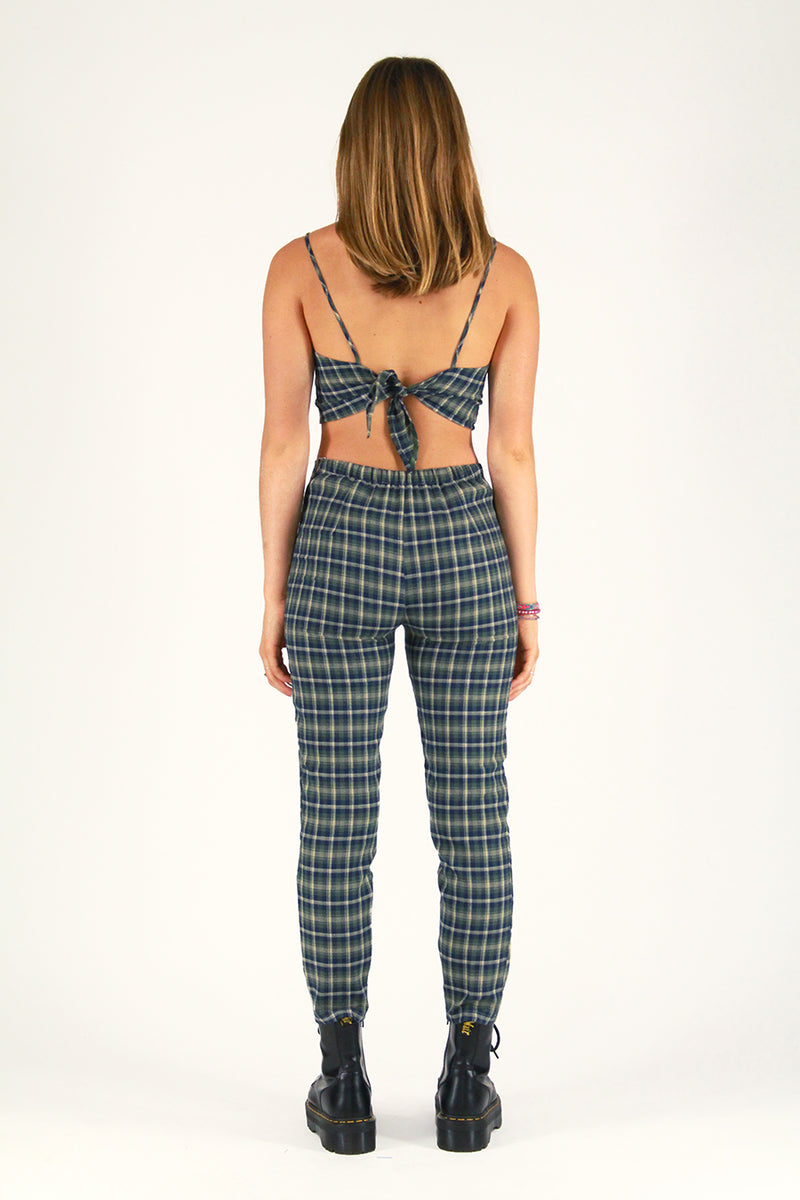 Cami Top and Pants - Flanel Green Plaid