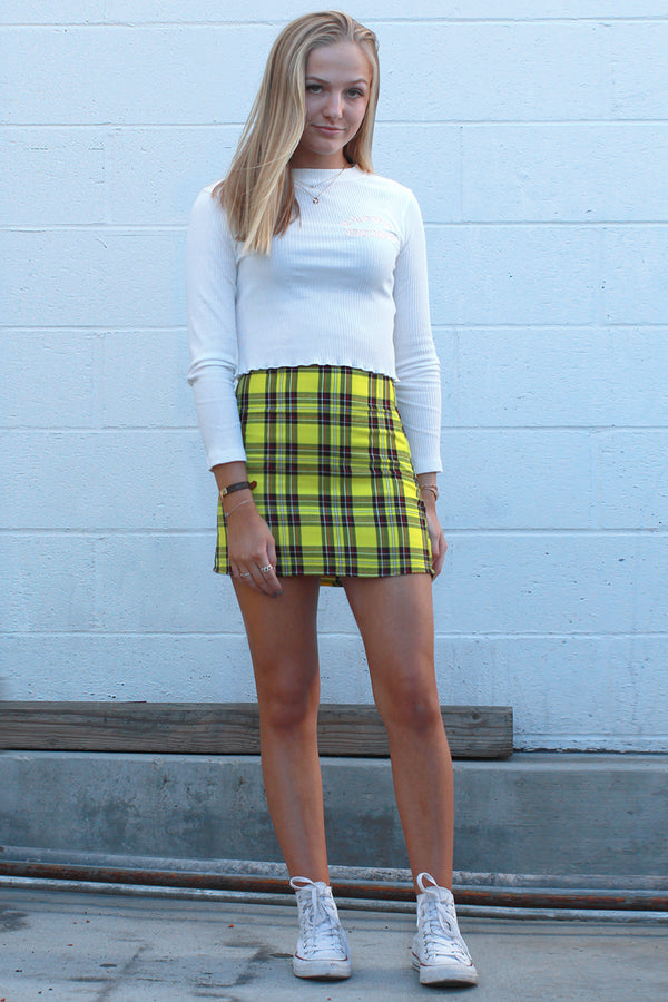 Skirt -Yellow Plaid