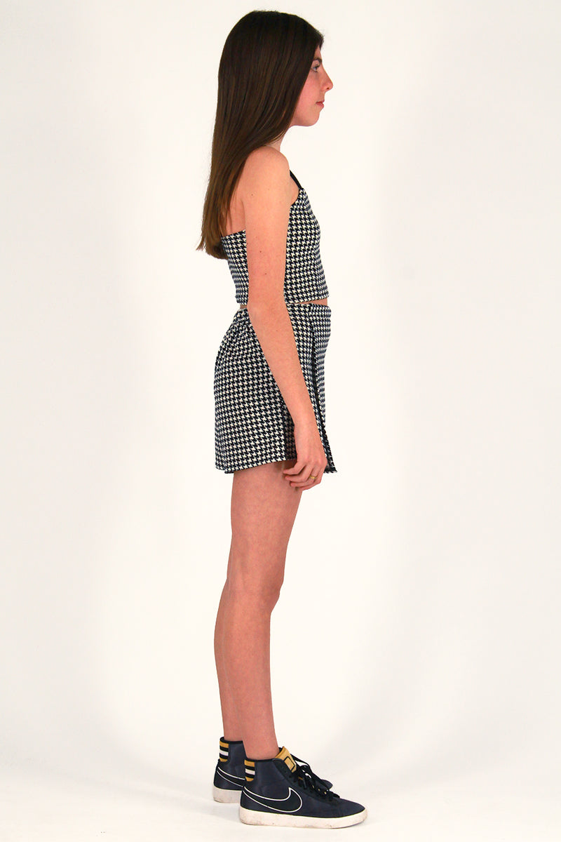 Skorts - Stretchy Black and White Houndstooth
