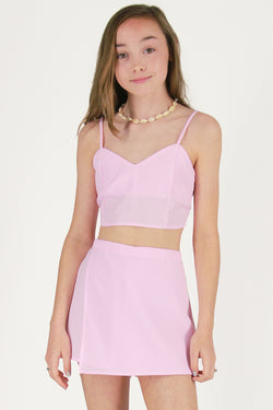 Adjustable Cami Top and Skorts - Pink Gingham