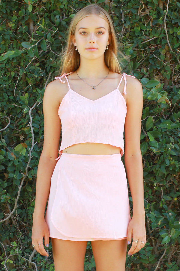 Ribbon Cami Top - Pink Scrunchy