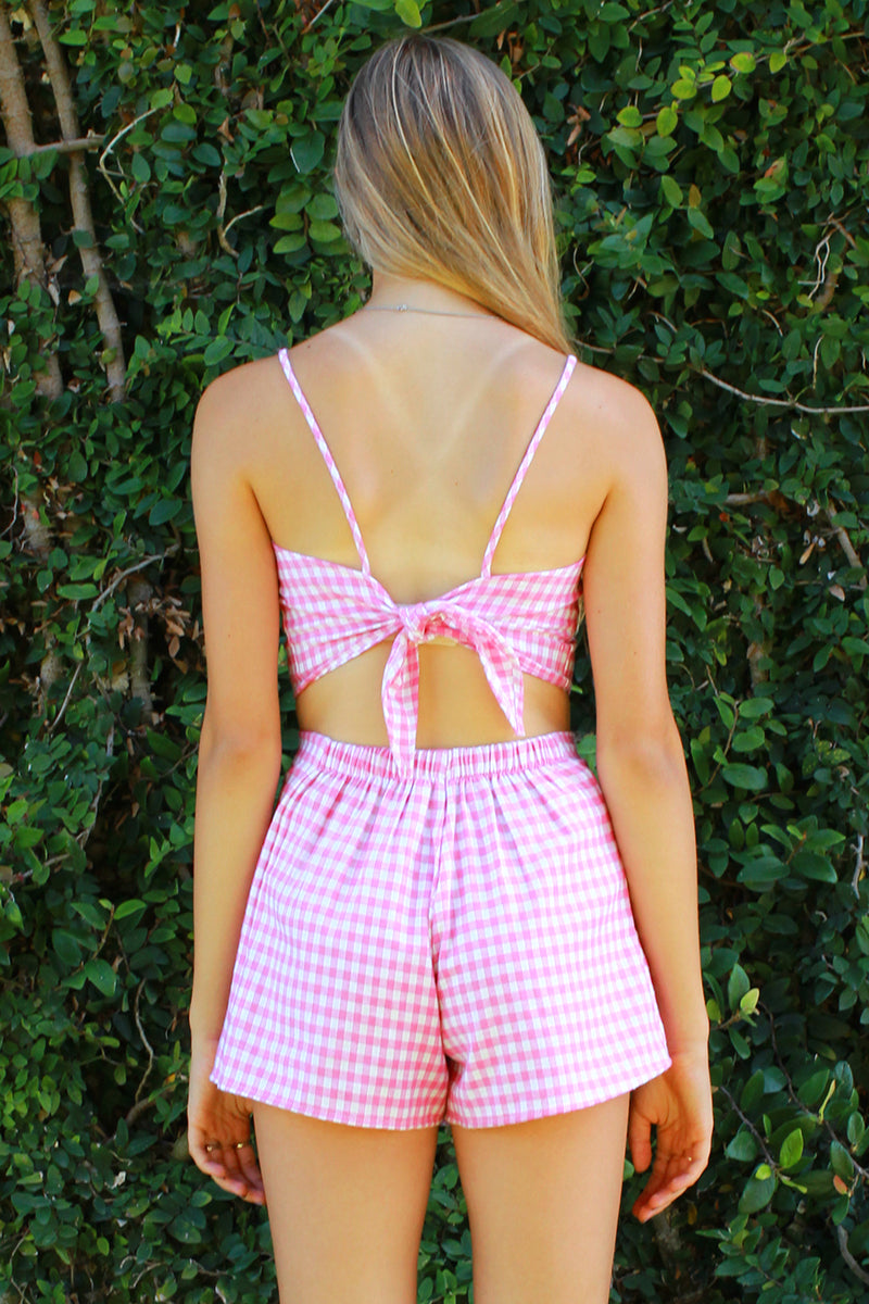 Skorts - Flannel Pink Checker