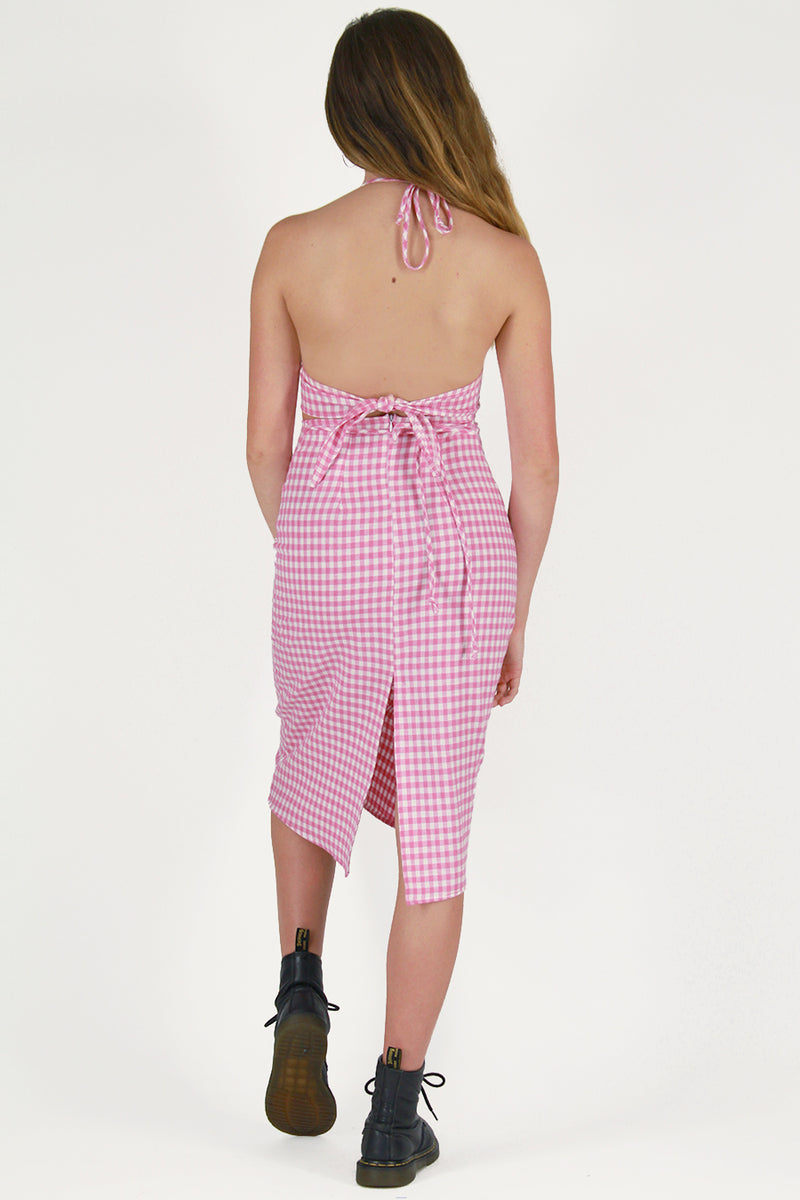 Midi Skirt - Flannel Pink Checker