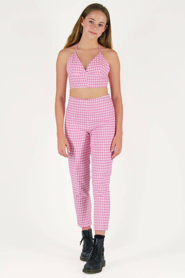 Pants - Flanel Pink Checker