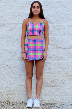 Skorts - Flannel Pink Plaid