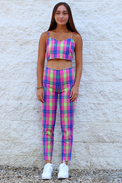 Pants - Flanel Pink Plaid