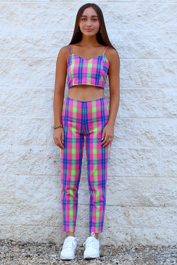 Pants - Flannel Pink Plaid