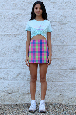Skirt - Flanel Pink Plaid