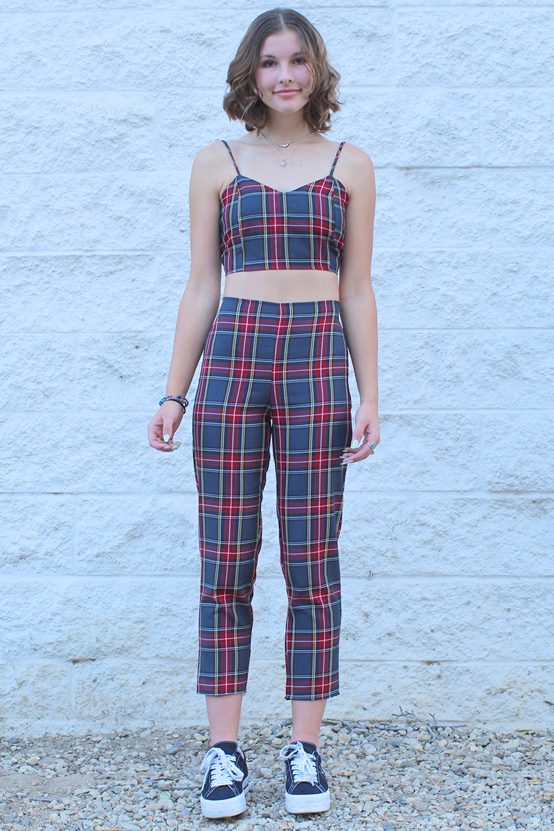 Adjustable Cami Top - Tartan
