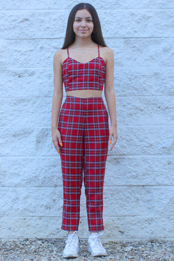 Pants - Red Plaid