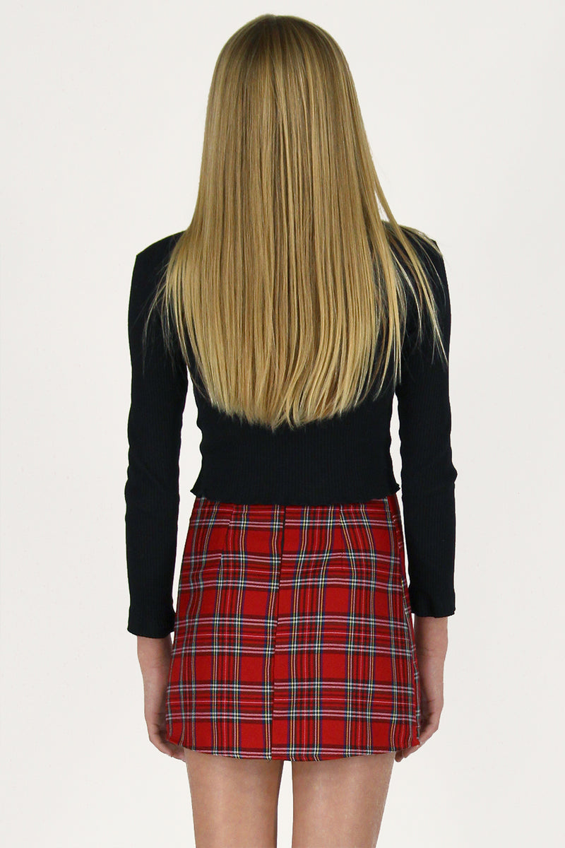Skirt - Red Plaid