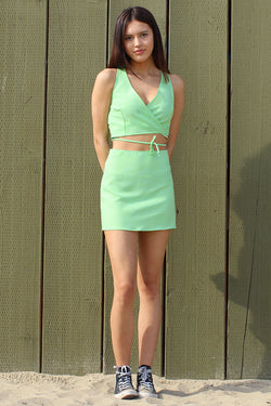 Skirt - Lime Green Gingham