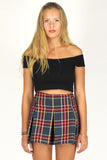 Pleated Skirt - Tartan