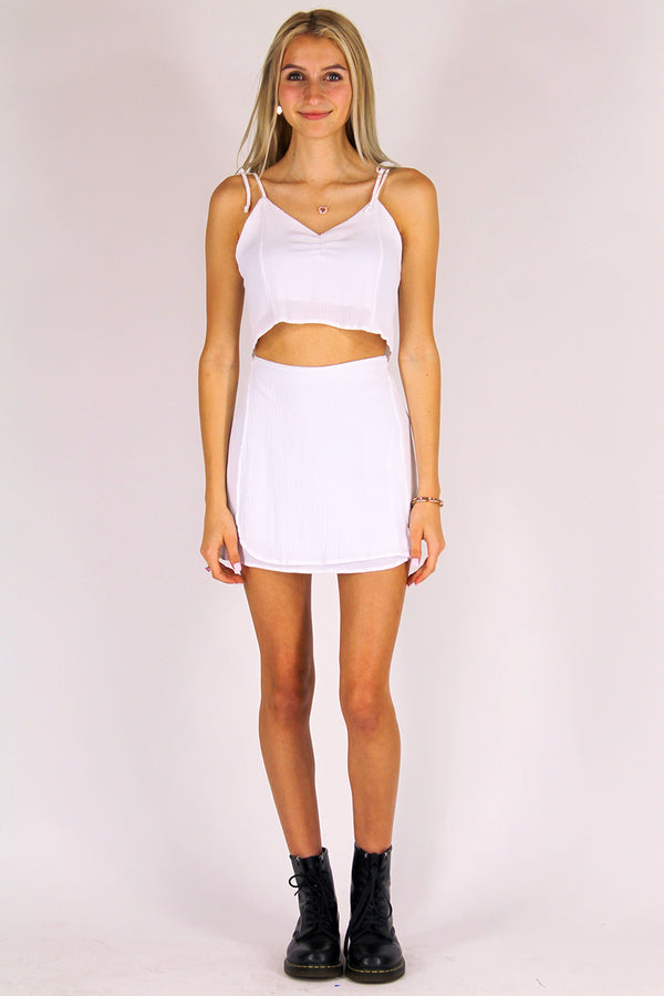 Ribbon Cami Top - White Scrunchy