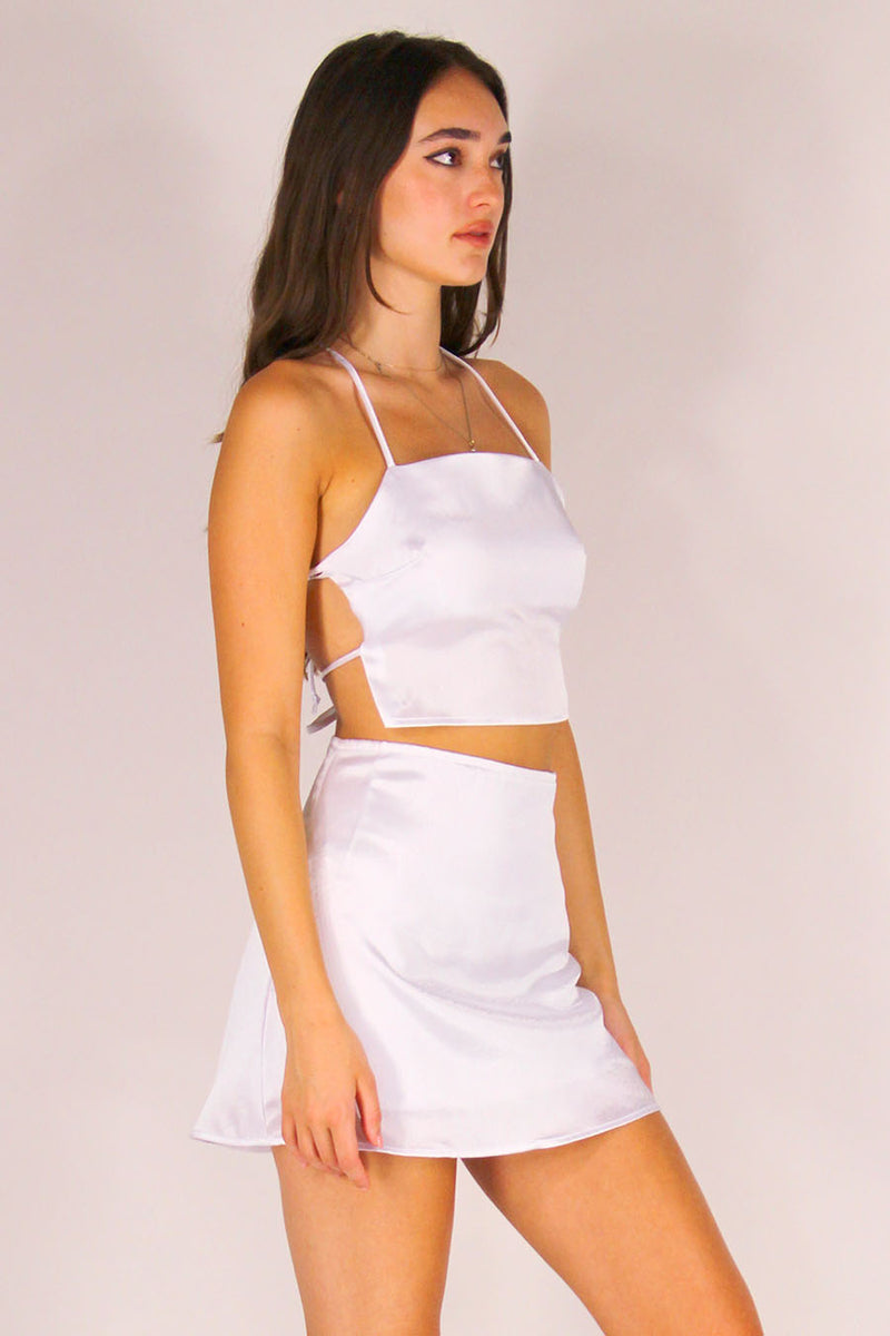 Skirt - White Satin