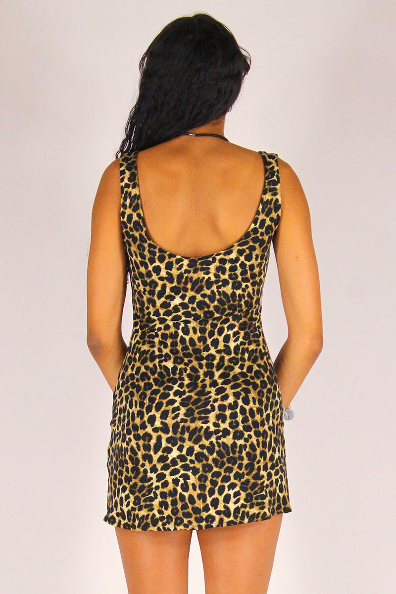 Tank Dress - Stretchy Leopard Print