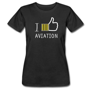 Camiseta I Like Aviation - Sky Crew PTY