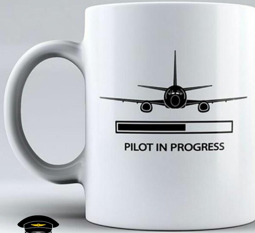 Pilot in Progress Taza Mug - Sky Crew PTY