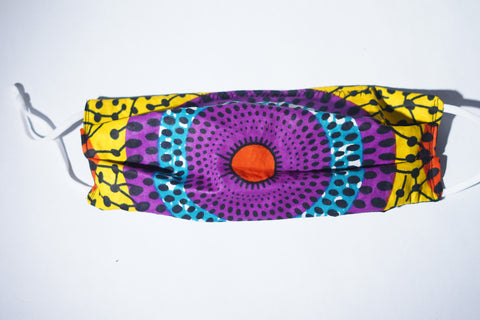 Purple & Gold African Cotton Face Masks