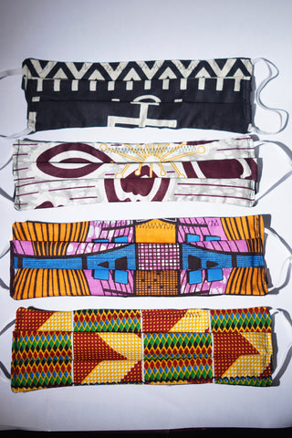 African Print Cotton Face Masks