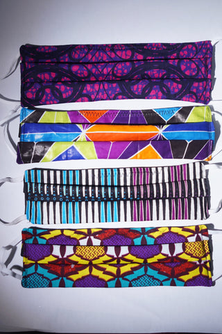 Purple Passion African Cotton Face Masks