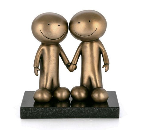 Doug Hyde, Hand In Hand, Bronze Sculpture