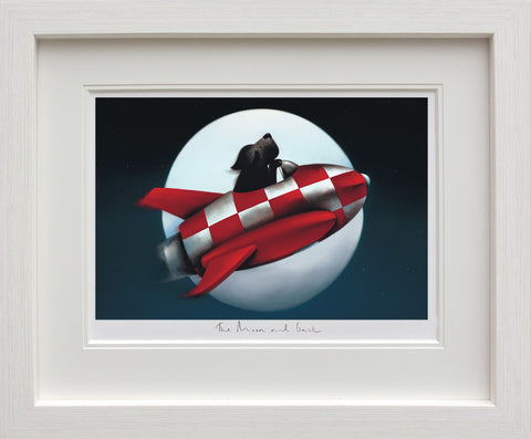 Doug Hyde, The Moon and Back, Framed