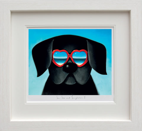 Doug Hyde, Sun Sea And Sunglasses I, Framed