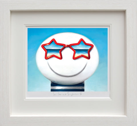 Doug Hyde, Sun Sea And Sunglasses II, Framed