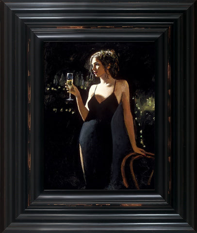 Fabian Perez, Tiffany with Champagne, Framed