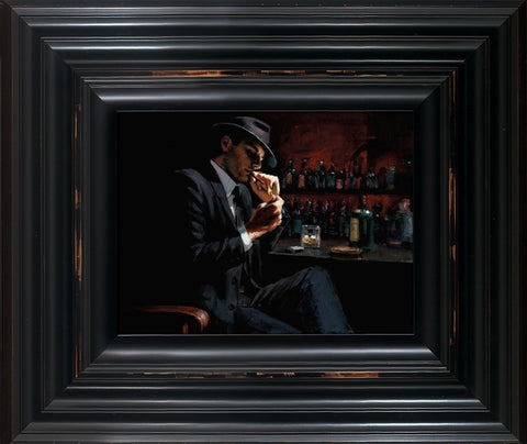 Fabian Perez, Man Lighting Cigarette III, Framed