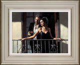 Fabian Perez, Fabian and Lucy at the Balcony II, Framed